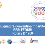 Signature Convention tripartite EFS/FFDSB/ROTARY District1760