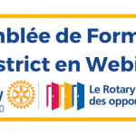Assemblée de Formation de District en Webinaire