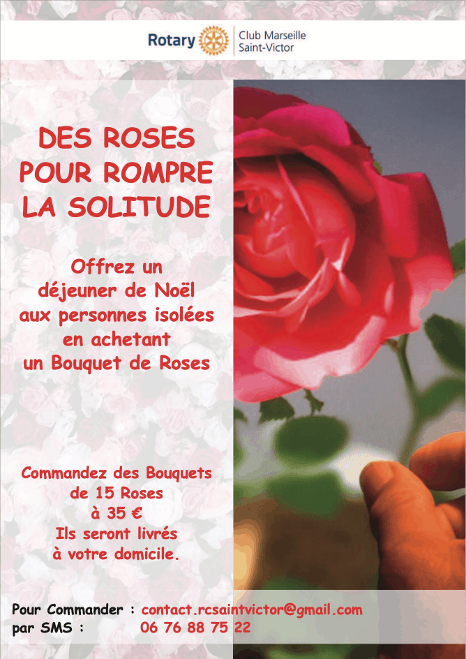 Action roses rotary marseille saint victor